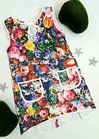 """Платье летнее """"Арида"""", размер 116-128 , цветочный принт"""