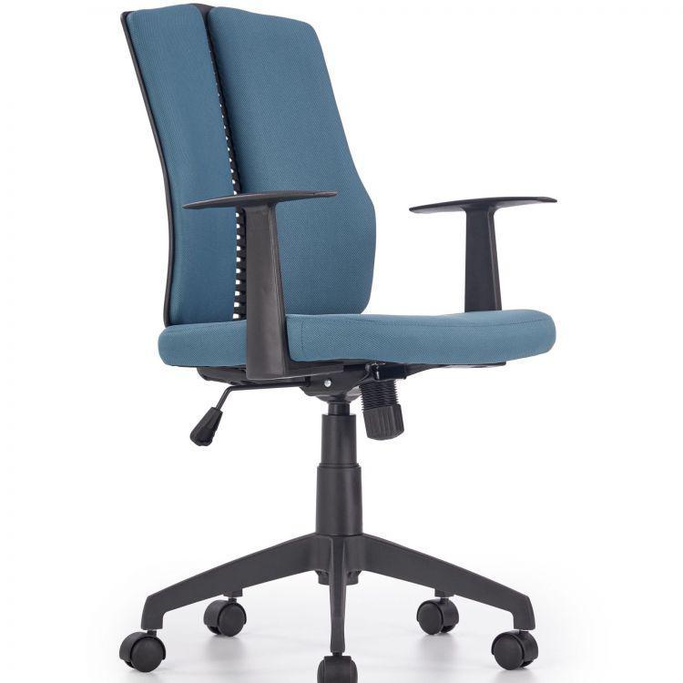 Компьютерное кресло IRON черный/бирюзовый Halmar