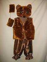 """Карнавальный костюм детский """"Бурый Медведь"""" для детей от 2-х до 5-ти лет"""