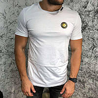 Брендовая мужская футболка Balmain T-Shirt Gold Tiger White, фото 1