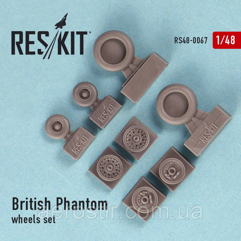British Phantom wheels set 1/48 RES/KIT 48-0067