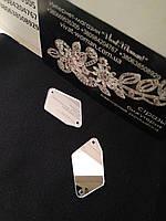 Стразы зеркала. Пришивные камни. Фигурные Р20 - 17х32 мм, Crystal. Цена за шт, фото 1