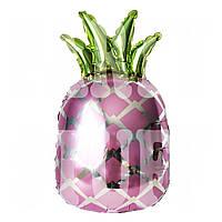 Фигурный шарик Ананас, розовый, 70*44 см