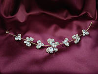 Веточка с камнями в форме бабочек для свадебной и вечерней прически, фото 1