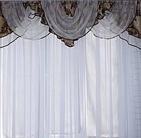 Ламбрекен №98 из плотной ткани на карниз 2м.  Код: 098л101(Б)У
