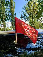 """Флажок Bonita на стекло с держателем """"Свадьба"""" красный 30×19 см"""