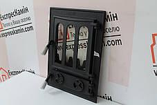 """Дверцята пічні зі склом """"Debora"""" 360х490. Дверцята для печі барбекю, фото 3"""