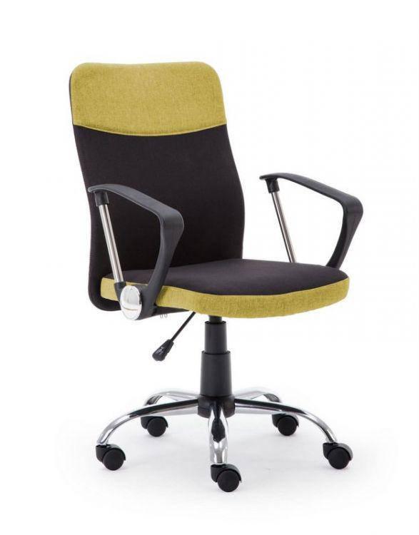 Компьютерное кресло TOPIC черный/зеленый Halmar