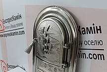 """Дверцы печные со стеклом """"Бамбук"""" 345х560 Чугунная дверка для печи барбекю, фото 3"""