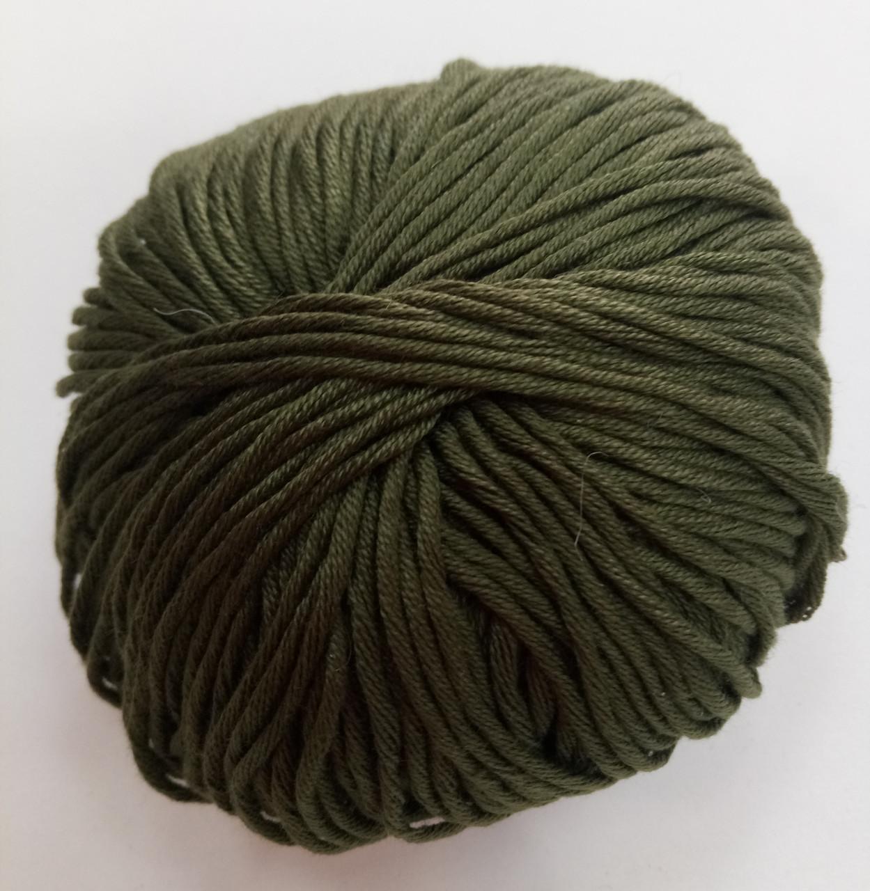 Пряжа для вязания Эджитто TITAN WOOL болото 35