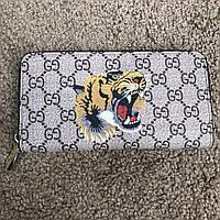 Кошелек Gucci Wallet Tiger GG Supreme Zip Around