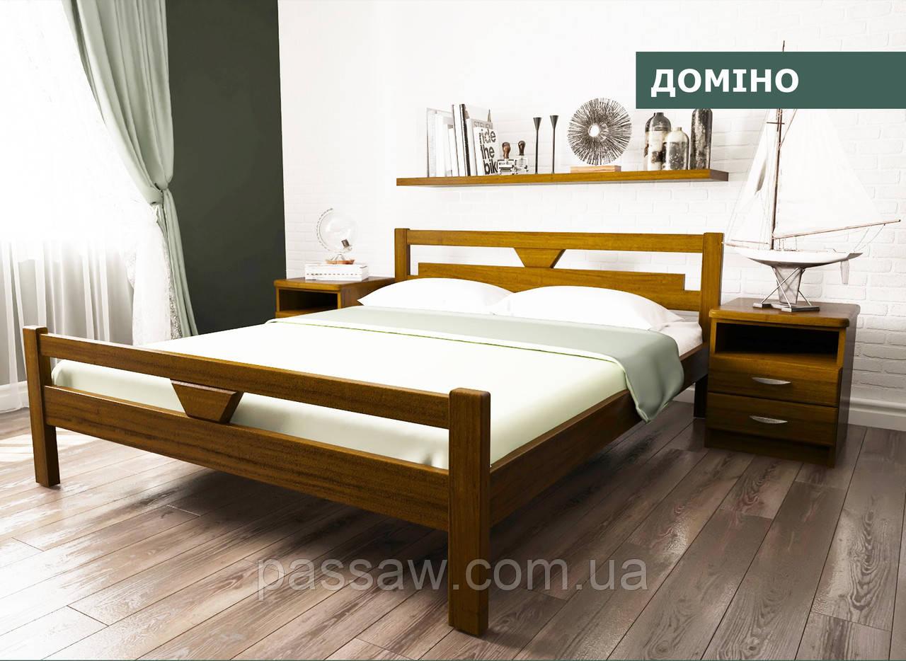"""Кровать деревянная """"Домино"""" 1,4 ольха"""