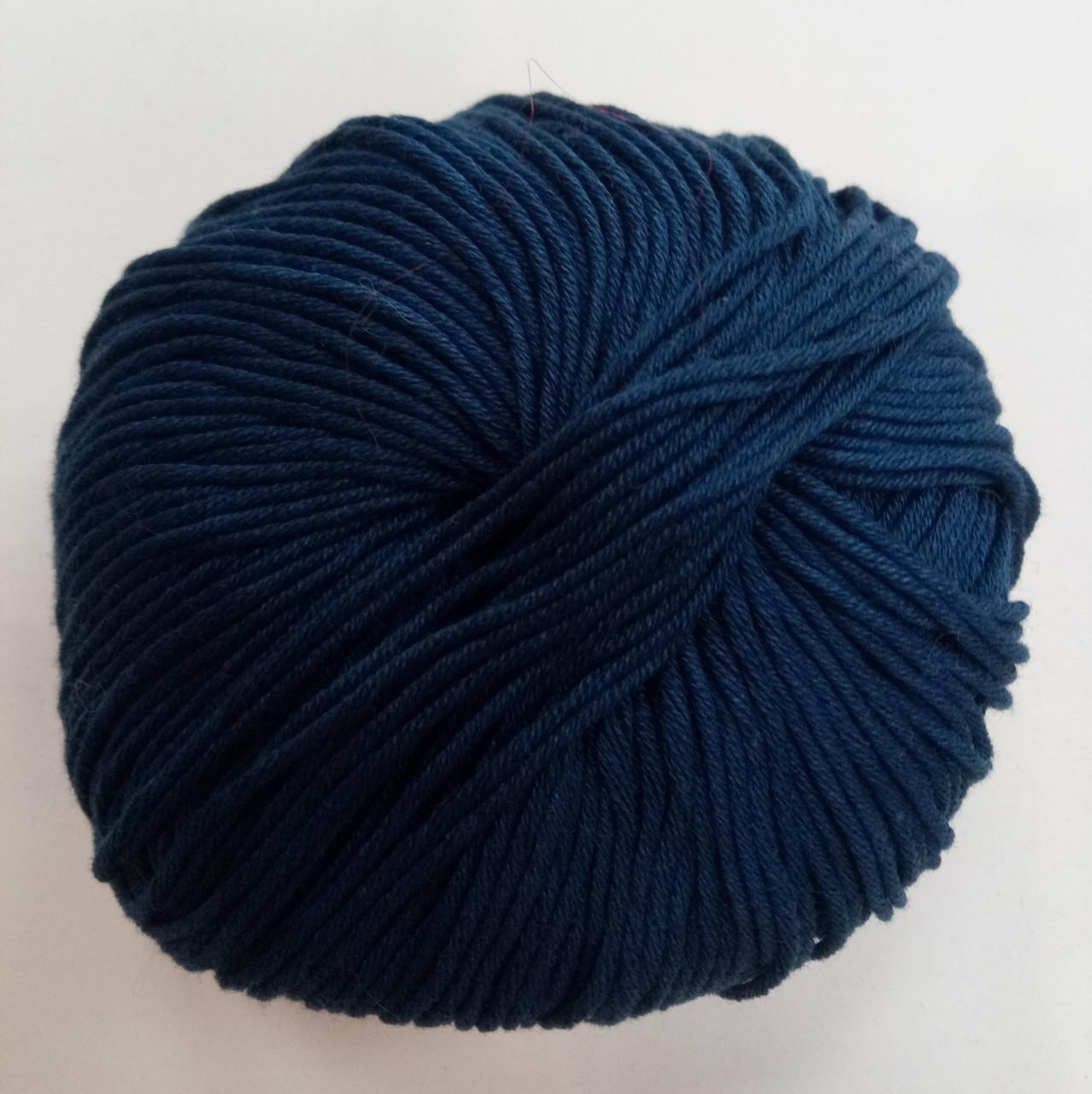 Пряжа для вязания Эджитто TITAN WOOL т.синий 279