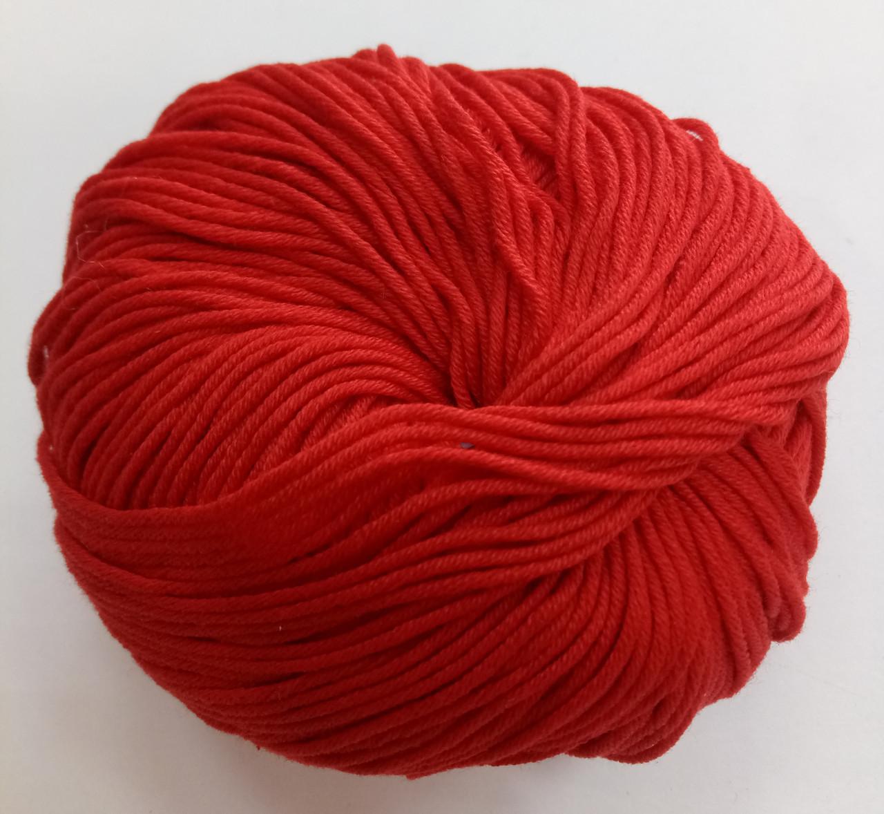 Пряжа для вязания Эджитто TITAN WOOL красный 614