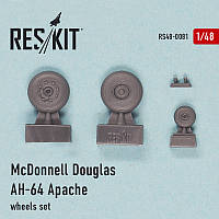 McDonnell Douglas AH-64 Apache wheels set 1/48  RES/KIT 48-0081