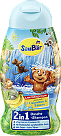 Шампунь - гель для душа SauBаr 2in1 Eisbonbon und Banane