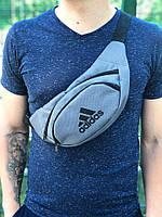 Поясная сумка Adidas, цвет - серый, фото 1