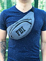 Поясная сумка FBI, цвет - серый, фото 1