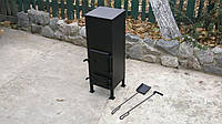 Печка из металла 3 - 4 мм, в комплекте с совком и кочергой / ручная работа, фото 1