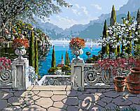 Картины по Номерам 40x50 см. Озеро Комо