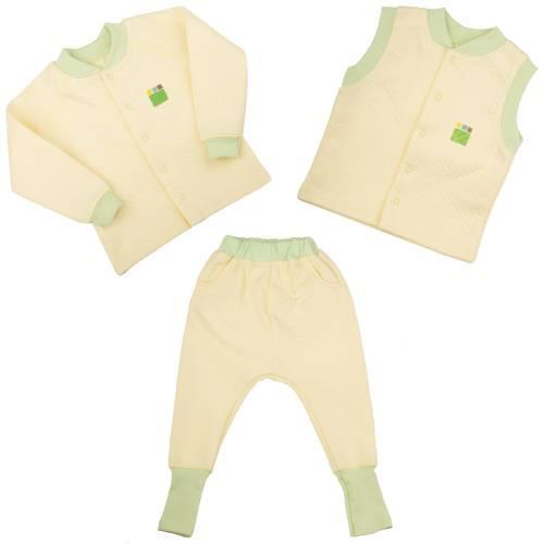 c99945112783 Трикотажный костюм для мальчика 1-4 года, капитон (кофта, брюки, жилетка