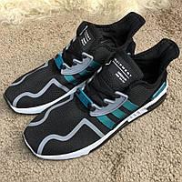 Кроссовки для мужчин спортивные Adidas EQT Cushion ADV Black/Green/White, фото 1