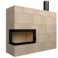 Теплоаккумуляционная облицовка ShamoTech KK74-2 для угловых каминов 740х370х440 Gavryliv&Sons, фото 1