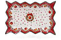 """Фарфоровое блюдо """"Рождественский венок"""". 25 см, фото 1"""