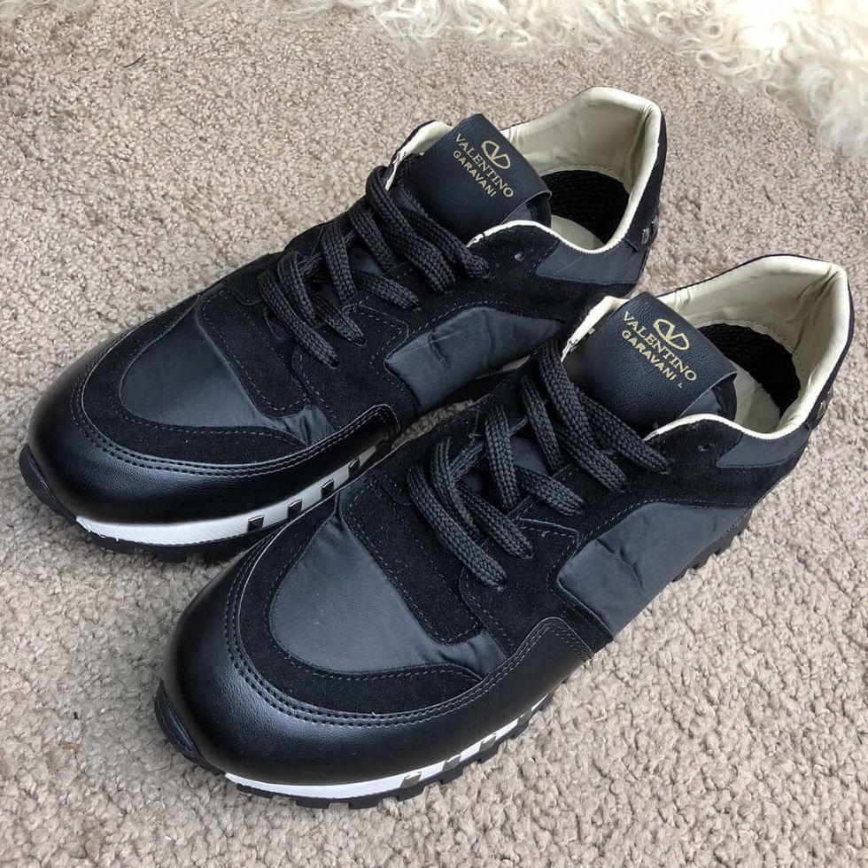 Мужские брендовые кроссовки Valentino Soul Am Black/White