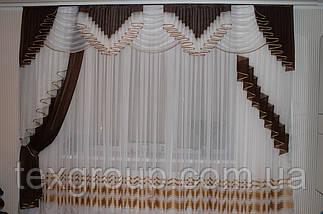 Шифоновый ламбрекен ручная складка Божена 3м, фото 3