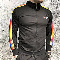 Мужской спортивный костюм Balenciaga Sport Suit Rainbow Black