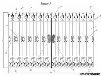 Ворота ковані тип 2
