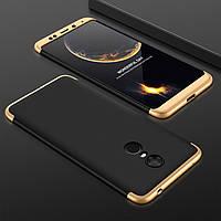 "Чехол GKK 360 для Xiaomi Redmi 5 Plus (5.99"") Бампер Black-Gold"