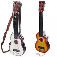 Гитара 295 41см,струны 4шт, медиатор, 2цвета, в чехле, 42-13-5см(Муз 295)