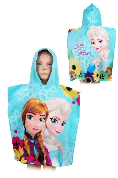 Пляжное полотенце-пончо для девочки  Дисней,  55*110 см, арт. FR-H-PONCHO-11