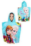 Пляжное полотенце-пончо для девочки  Дисней,  55*110 см, арт. FR-H-PONCHO-11, фото 1