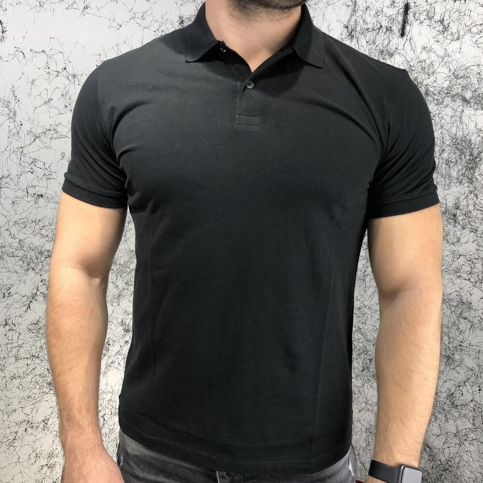 Поло мужское черное Gucci Cotton Polo Angry Cat Modern Future Black
