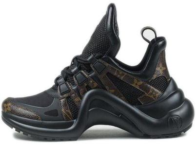 Женские кроссовки Louis Vuitton LV Archlight 'Black/Brown' (Луи Витон) черные