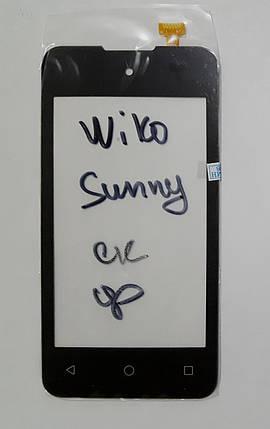 Сенсор (тачскрін) для Wiko Sunny чорний, фото 2