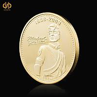 Позолоченная сувенирная монета Майкл Джексон