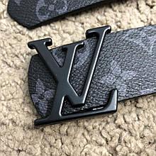 Ремень стиль Louis Vuitton Initiales 40MM Monogram Eclipse