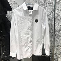 Рубашка мужская белая Shirt Philipp Plein Platinum Casino White