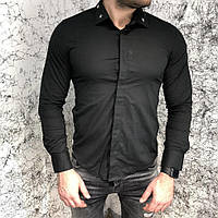 Рубашка мужская черная Givenchy Poplin Shirt With Metallic Stars Black