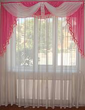 Ламбрикен Класика 2м темно рожевий з бахромою