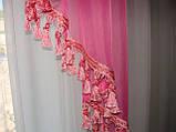 Ламбрикен Классика 2м  темно  розовый с бахрамой, фото 4