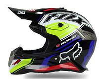 Синий Кроссовый мото шлем Fox (эндуро, даунхил)