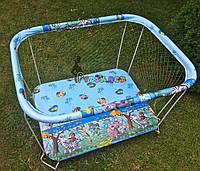"""Манеж детский с крупной сеткой Kinderbox """"Зоопарк"""", фото 1"""