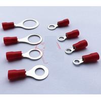 """Клемма тип """"О"""" RV2-8, 0.5 мм, провод 1.5-2.5, изолированная, максимальный ток 27А, под обжимку, латунь, 1000 шт. в упаковке"""