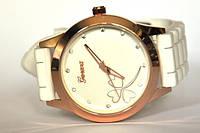 Женские силиконовые наручные часы Geneva 46/белые
