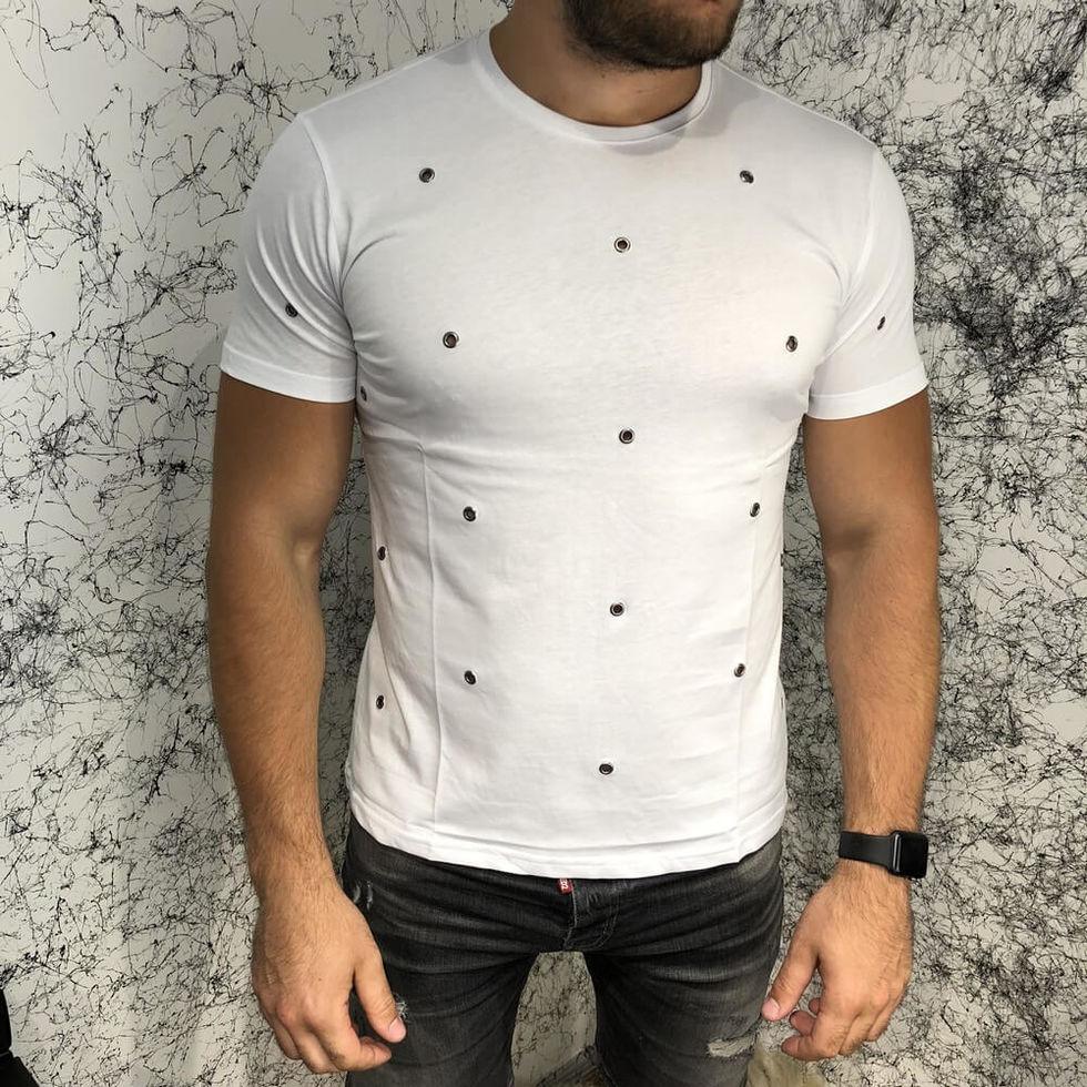 Футболка белая мужская Valentino T-Shirt Hole Dot White